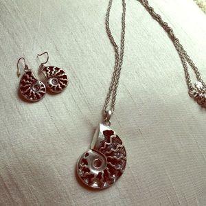 Seashell silver set